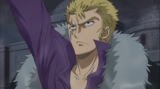 Laxus absorbs electricity