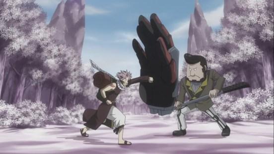 Lala blocks Natsu