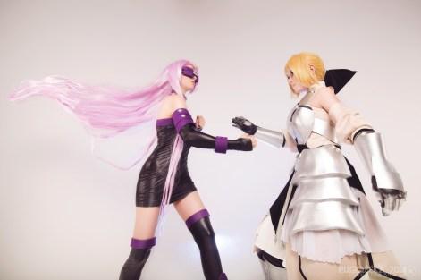 Rider vs Saber Cosplay by kirikosan
