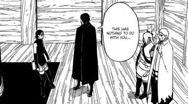 Sasuke doesn't involve Sarada