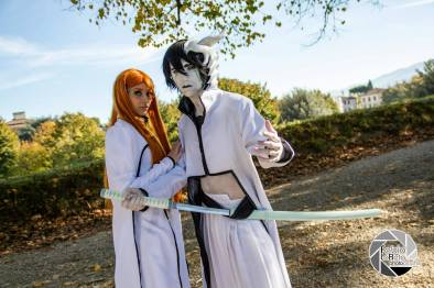 Cosplay Bleach Orihime Ulquiorra by Asteria91