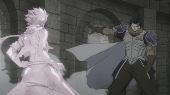 Silver freezes Natsu