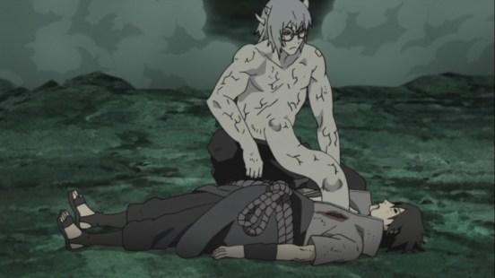 Kabuto saves Sasuke