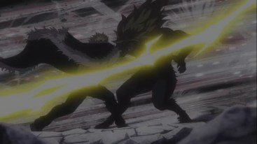 Laxus attacks Tempester