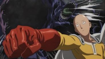 Saitama punches