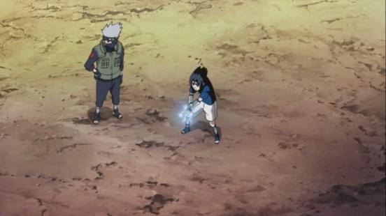 Sasuke learns Chidori