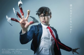 Cosplay Shinichi and Migi by keruuu