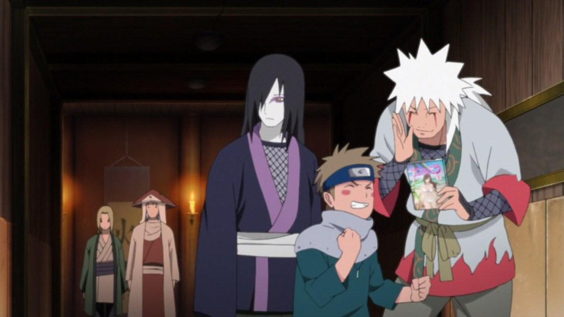 Jiraiya Orochimaru Tsunade Dan and Nawaki