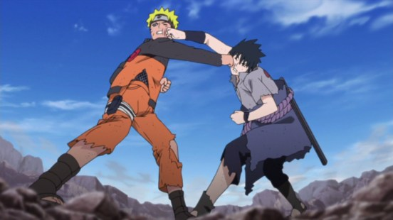 Naruto and Sasuke Punch Each Other