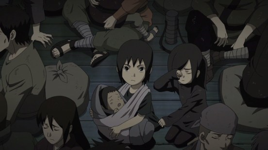 Itachi and Sasuke at the shelter