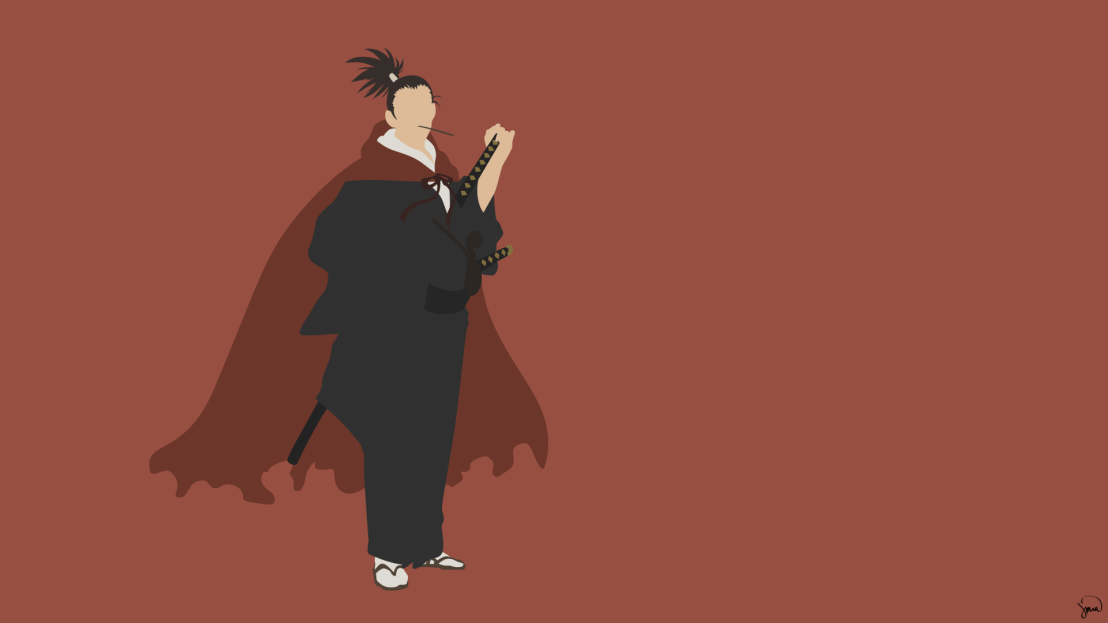 Atomic Samurai One Punch Man Minimalist Wallpaper by greenmapple17