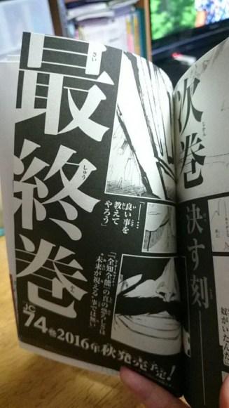 Bleach manga ending message