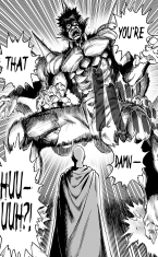 Saitama approaches Bakuzan