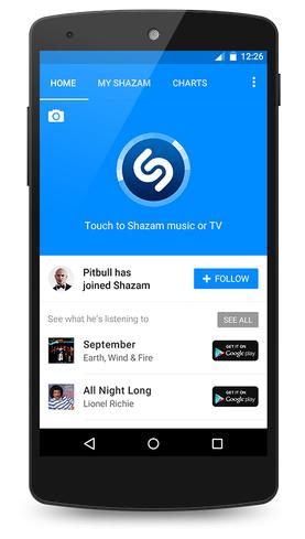 Screenshots Shazam Encore