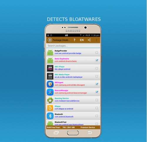 Screenshots Package Disabler Pro