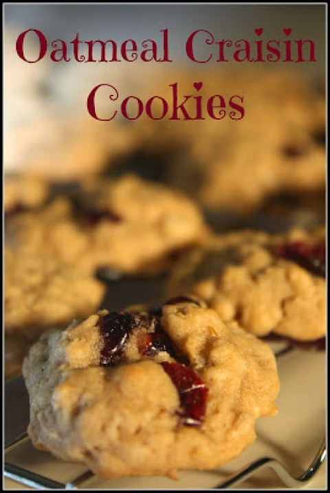 Oatmeal Craisin Cookie Recipe