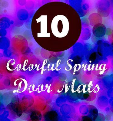 10 Colorful Spring Door Mats 39
