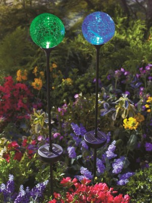Moonrays Color Changing Solr Glass Balls
