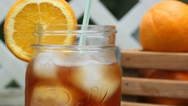 Fall flavor inspired Orange Spiced Sweet Tea.
