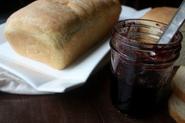 Homemade Bread with Blackberry Jam