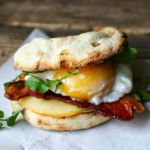Bacon, Egg and Smoked Gouda Breakfast Sandwich