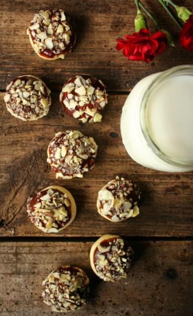 Cardamom Nutella Almond Crunch Cookies
