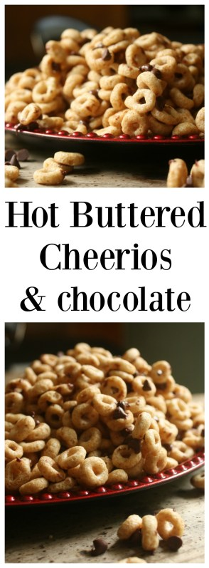 Hot Buttered Toasted Cheerios with Chocolate Morsels