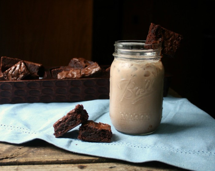 Chocolate White Russian with Brownie Garnish. This Chocolate White Russian takes the classic White Russian and adds chocolate syrup and a brownie garnish to make the ultimate dessert cocktail.