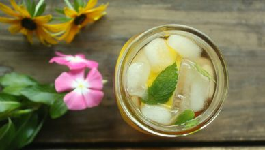 Lemon & Mint Iced Green Tea