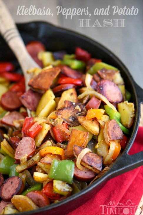Kielbasa, Peppers, and Potato Hash Skillet plus 30+ Cast Iron Skillet Recipes