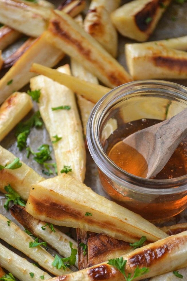 Honeyed Parsnips plus 60+ Recipes using Parsnips