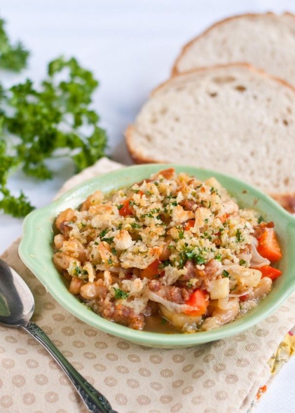 Cassoulet With Garlic Breadcrumb Topping plus 60+ Recipes using Parsnips
