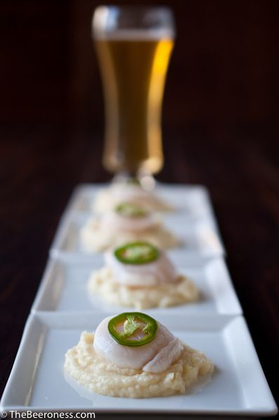 Citrus Cooked Scallops with Smoky IPA Parsnip Puree and Beer Pickled Jalapenos plus 60+ Parsnip Recipes