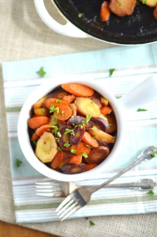 Orange Ginger Glazed Carrots and Parsnips plus 60+ Parsnip Recipes
