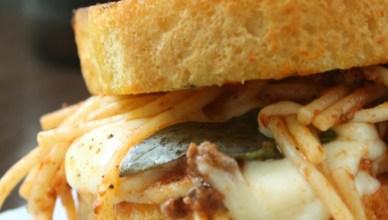 Grilled Mozzarella Spaghetti Sandwich