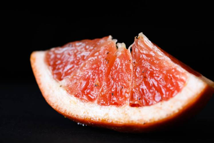 Bruleed Grapefruit wedge