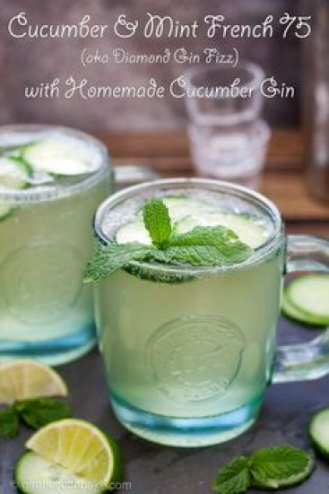 Cucumber Mint French 75 plus 50 more Gin Cocktails you will LOVE!