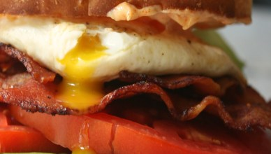I can eat this sandwich anytime of day! A fried egg on a BLT just makes it so much better!