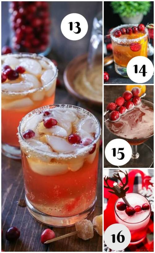 25 Christmas Cocktails - The Cranberry Cocktail Collection