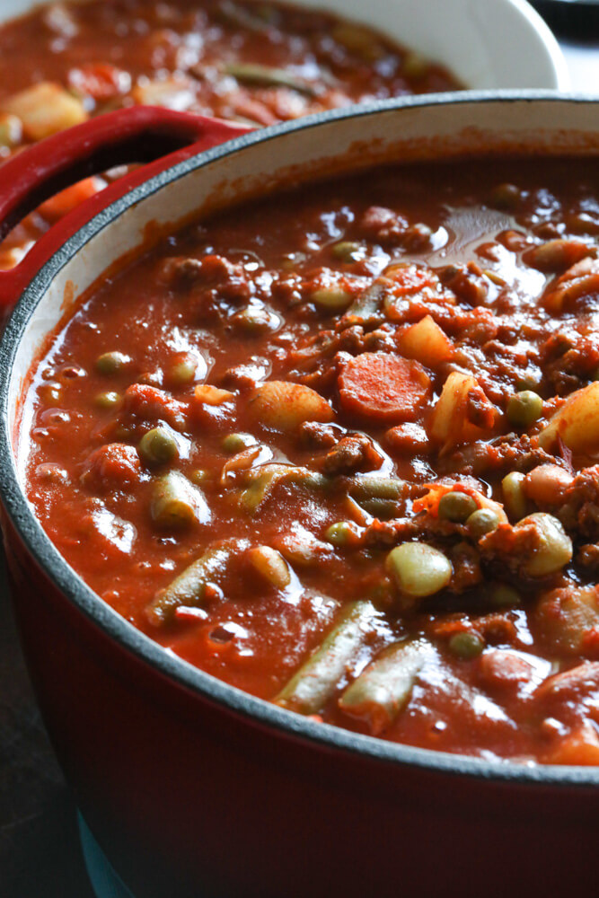 Vegetable Beef Soup with Ground Beef
