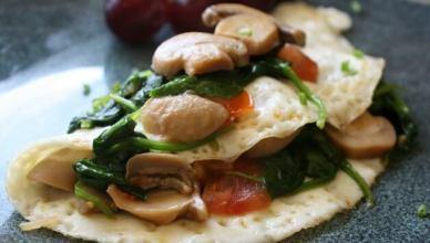 Egg White Veggie Omelet 2