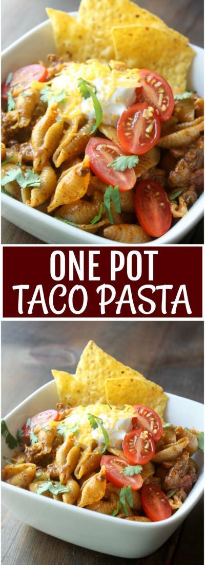 One Pot Taco Pasta 1