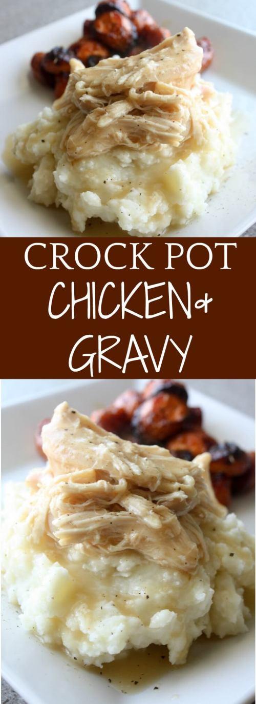 Crock Pot Chicken and Gravy Recipe