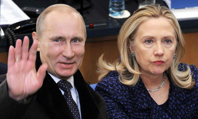 REPORT: Russia Has 20,000 Hillary's Emails Stolen From Her Secret Home Server Hillary-clinton-putin