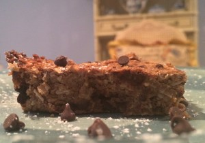 The finished cookie bar (yummy)