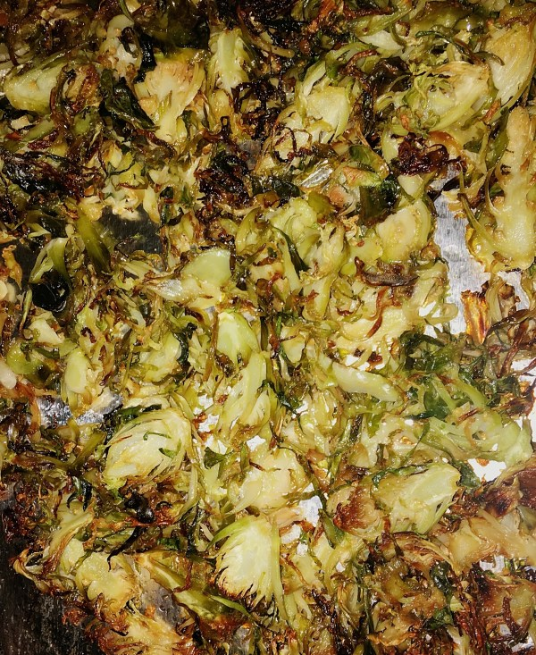 Oven Fried Sprouts