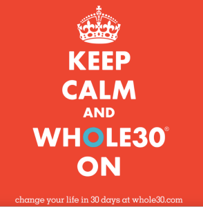 WHOLE30 Keep Calm Banner