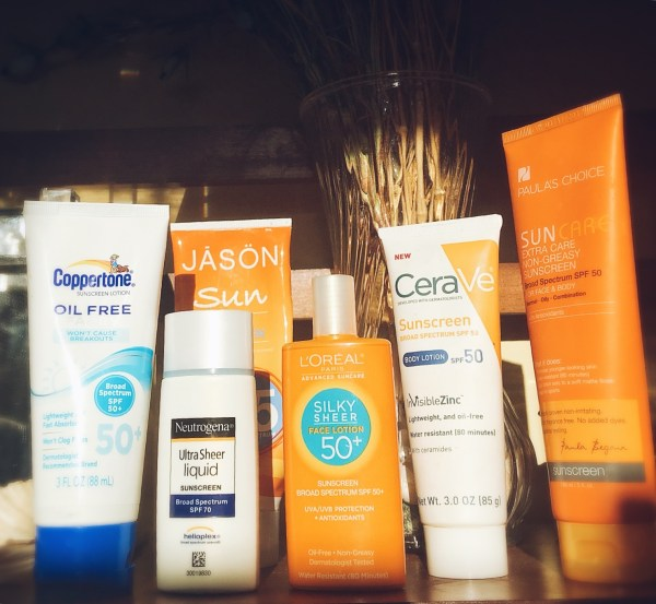 Synthetic or chemical sunscreens work by dissolving into the skin, so they are less likely than mineral actives to disrupt makeup application or leave whitish cast on the skin after applying. But they may cause a reaction in sensitive individual, including children.