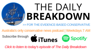 Daily breakdown - Australia's only daily conservative news podcast