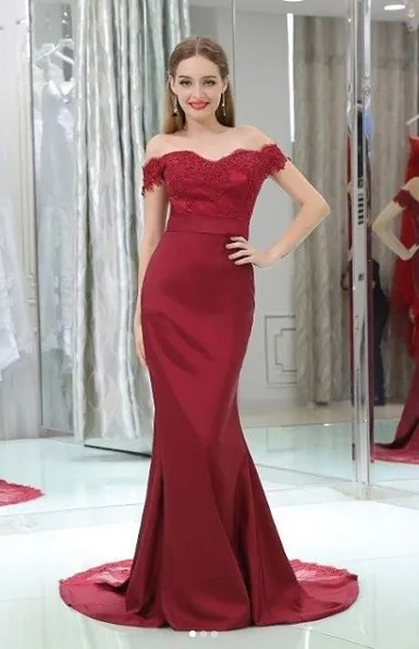 Macy's Formal Dresses Long Maroon